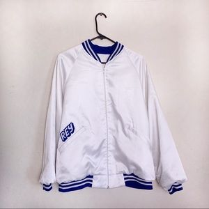Other - Ice White and Blue Bomber Jacket